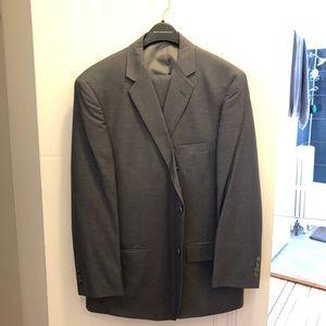 Large men's grey dress suit